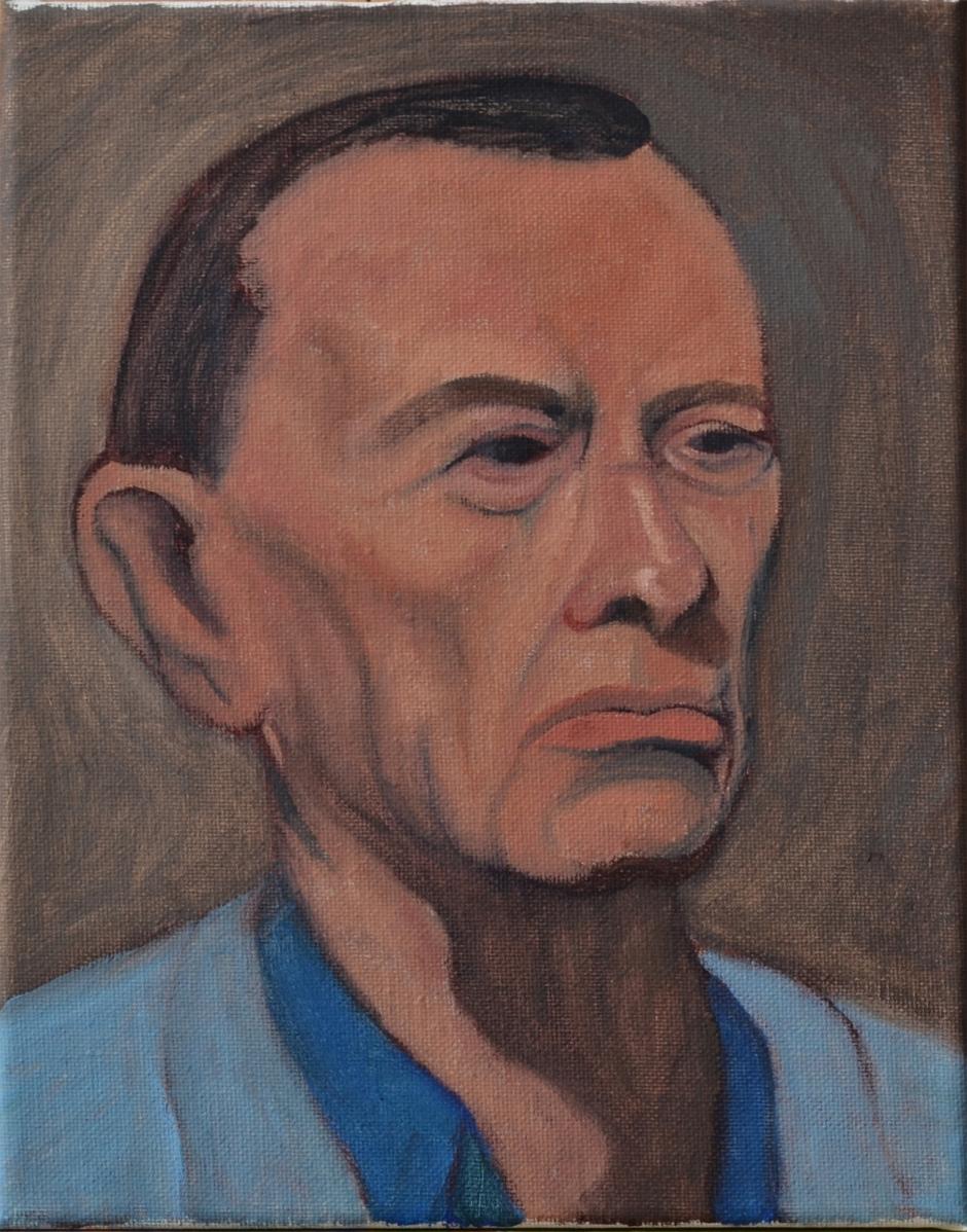 Old Man Oil Figure Painting